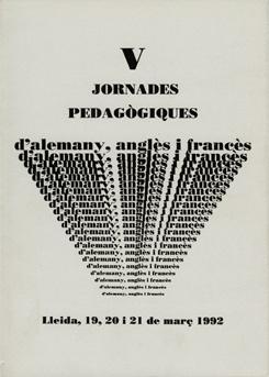 V Jornades pedagògiques d'alemany, anglès i francès.