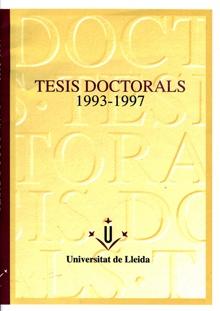 Tesis doctorals 1993-1997.