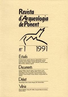 Revista d'Arqueologia de Ponent. Núm. 1.
