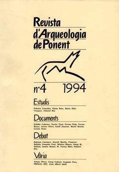 Revista d'Arqueologia de Ponent. Núm. 4.