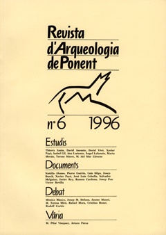 Revista d'Arqueologia de Ponent. Núm. 6.