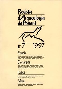 Revista d'Arqueologia de Ponent. Núm. 7.