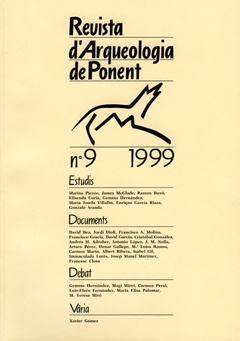 Revista d'Arqueologia de Ponent. Núm. 9.