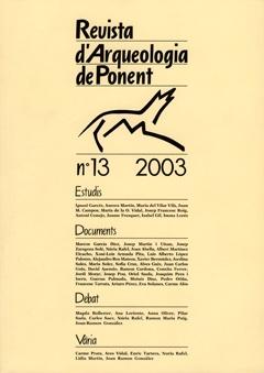 Revista d'Arqueologia de Ponent. Núm. 13.