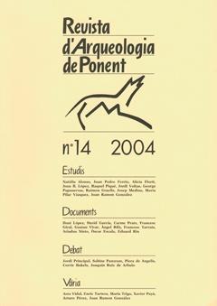 Revista d'Arqueologia de Ponent. Núm. 14.