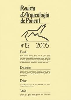 Revista d'Arqueologia de Ponent. Núm. 15.