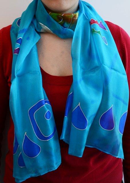 Fulard de seda pintada a mà