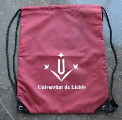 Motxilla granat logo UdL