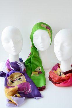 Fulard de seda pintada a mà. Col.lecció Òliba