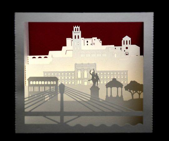 Postal tridimensional Universitat de Lleida
